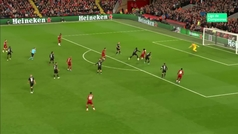 Gol de Salah (4-3) en el Liverpool 4-3 Salzburgo