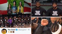 La NBA volvió de rodillas y con el himno a piano y a capella a favor del 'Black Lives Matters'