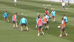 Así fue el último entrenamiento del Madrid antes de medirse al Cádiz