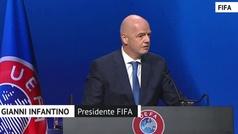 """Infantino, sobre la Superliga: """"Está fuera del sistema"""""""