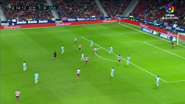 MX: Gol de Saúl (2-0) en el Atlético Madrid 2-0 Osasuna