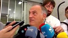 Tebas cree ?al 90%? que el Girona-Barça se jugará en EEUU
