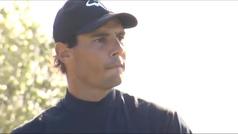 El sorprendente debut de Nadal en el mundo del golf