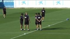Así fue el entrenamiento del Barcelona antes de enfrentarse al Betis