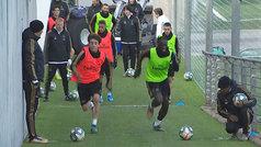 Así fue el intenso entrenamiento del Real Madrid: físico y balón