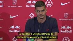La insólita pregunta que le hicieron a André Silva sobre Cristiano: su cara era un poema...