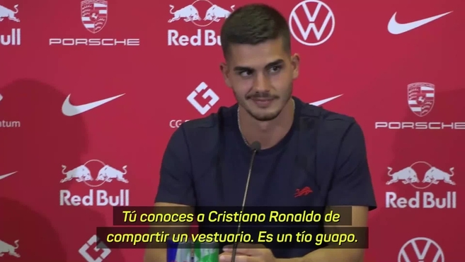 Bundesliga: Andre Silva asked Cristiano Ronaldo a strange question at the RB Leipzig presentation