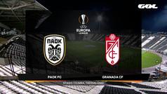 Europa League (J6): Resumen y goles del PAOK 0-0 Granada