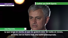 "Mourinho: ""Quiero volver este verano... aunque ya he dicho que no a 3 ó 4 ofertas"""