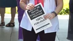 Protesta de los sanitarios para reivindicar mejoras en sus condiciones de trabajo