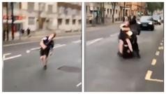 El alcohol es muy malo... Un fan escocés es atropellado por una moto y sigue como si nada