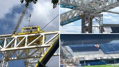 Nuevo empujón a la obra del Bernabéu: abren nuevas secciones de grada y desplazan las cerchas 3 y 4