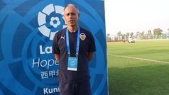 Javi Sanchís, técnico del Valencia, analiza el paso a la final