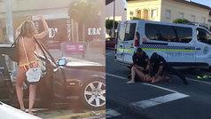 Provoca un accidente en bikini, hiere a tres personas, se pone a bailar y se resiste a la policía...