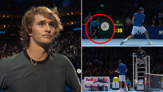 La queja de Zverev ante Federer por un despiste del recogepelotas que casi acaba en lágrimas
