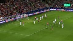 Gol de Krmencik (1-0) en el Viktoria Plzen 2-2 CSKA Moscú