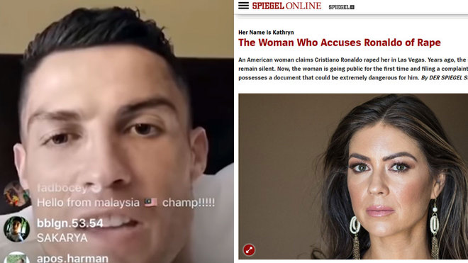 Cristiano Ronaldo's girlfriend, 23, backs star amid rape claims