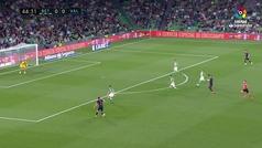 Gol de Guedes (0-1) en el Betis 1-2 Valencia