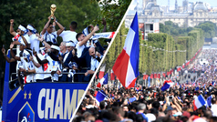Locura en Francia durante el recibimiento a los campeones del mundo