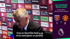 """Solskjaer, sobre De Gea: """"Creo mucho en David"""""""