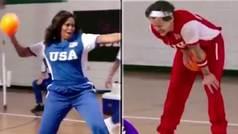 Michelle Obama casi desgracia al músico Harry Styles jugando al balón prisionero