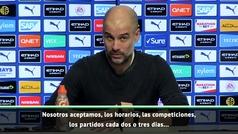 """Guardiola: """"Iremos donde nos digan, pero no nos digáis a qué jugadores poner"""""""