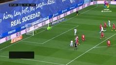 Gol de Willian José (p.) (2-0) en el Real Sociedad 3-2 Espanyol