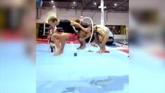 ¿Sería posible este ejercicio en una final olímpica de gimnasia rítmica?