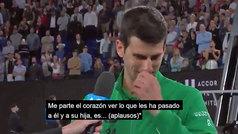 """Djokovic se derrumba al hablar de Kobe Bryant: """"Cuando le necesité estuvo ahí"""""""