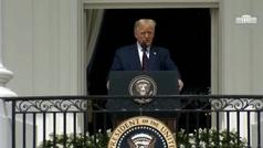 """El médico de Trump se muestra """"cautelosamente optimista"""" aunque dice que no está fuera de peligro"""