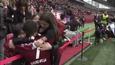 El último gol de Villa en la Liga japonesa