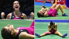 Emoción y lágrimas de Carolina Marín