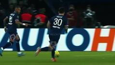 El momento en que Messi se lesiona la rodilla en el PSG vs Lyon