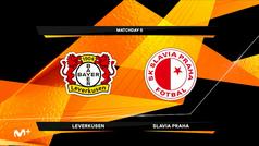 Europa League (J6): Resumen y goles del Bayer Leverkusen 4-0 Slavia Praga