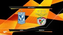 Europa League (J1): Resumen y goles del Lech Poznan 2-4 Benfica