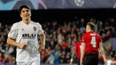 Champions League (J6): Resumen y goles del Valencia 2-1 Manchester United