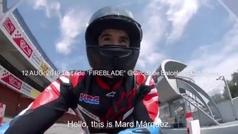 Marc marquez prueba la Honda Fireblade