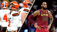 LeBron James, incrédulo ante la falla de los Browns
