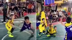 El crossover más tierno... ¡y letal!: rompe a dos rivales en un partido de minibasket y la clava lim