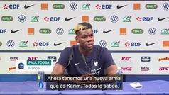 """Pogba se rinde ante Benzema: """"Es más 'killer' que antes"""""""
