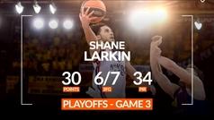 Shane Larkin, el verdugo del Barça en la tercera mayor paliza en unos 'playoffs' de Euroliga