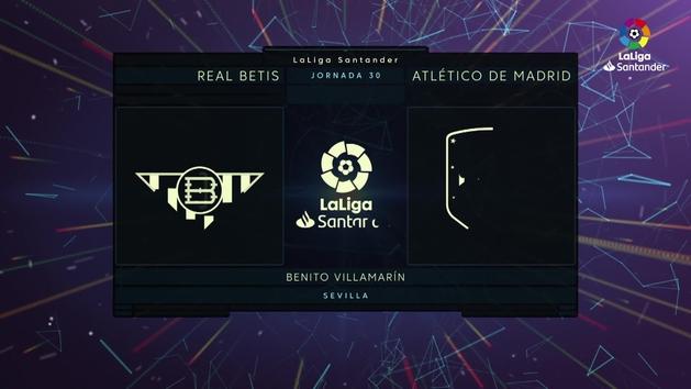 MX: LaLiga Santander (J30): Resumen y goles del Betis 1-1 Atlético