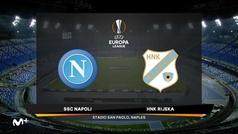 Europa League (J4): Resumen y goles del Nápoles 2-0 Rijeka
