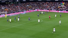 Gol de Guedes (2-1) en el Valencia 3-1 Levante