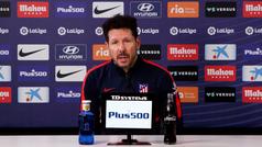 """Simeone: """"Los futbolistas nos dan opciones que la campaña pasada no teníamos"""""""