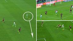 Gol de Sidnei (2-0) en el Betis 2-0 Rayo Vallecano