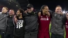 MX: Un 'You'll never walk alone' para la historia: así festejó Anfield el 4-0 al Barcelona