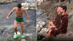 """El extremo entrenamiento de Djokovic en un río: """"Puede parecer una locura"""""""