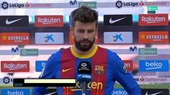 """Piqué: """"Esperábamos ganar... pero seguimos vivos por LaLiga"""""""