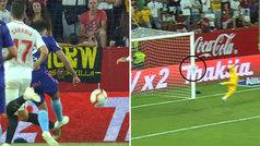 Gol de Boufal (2-1) en el Sevilla 2-1 Celta